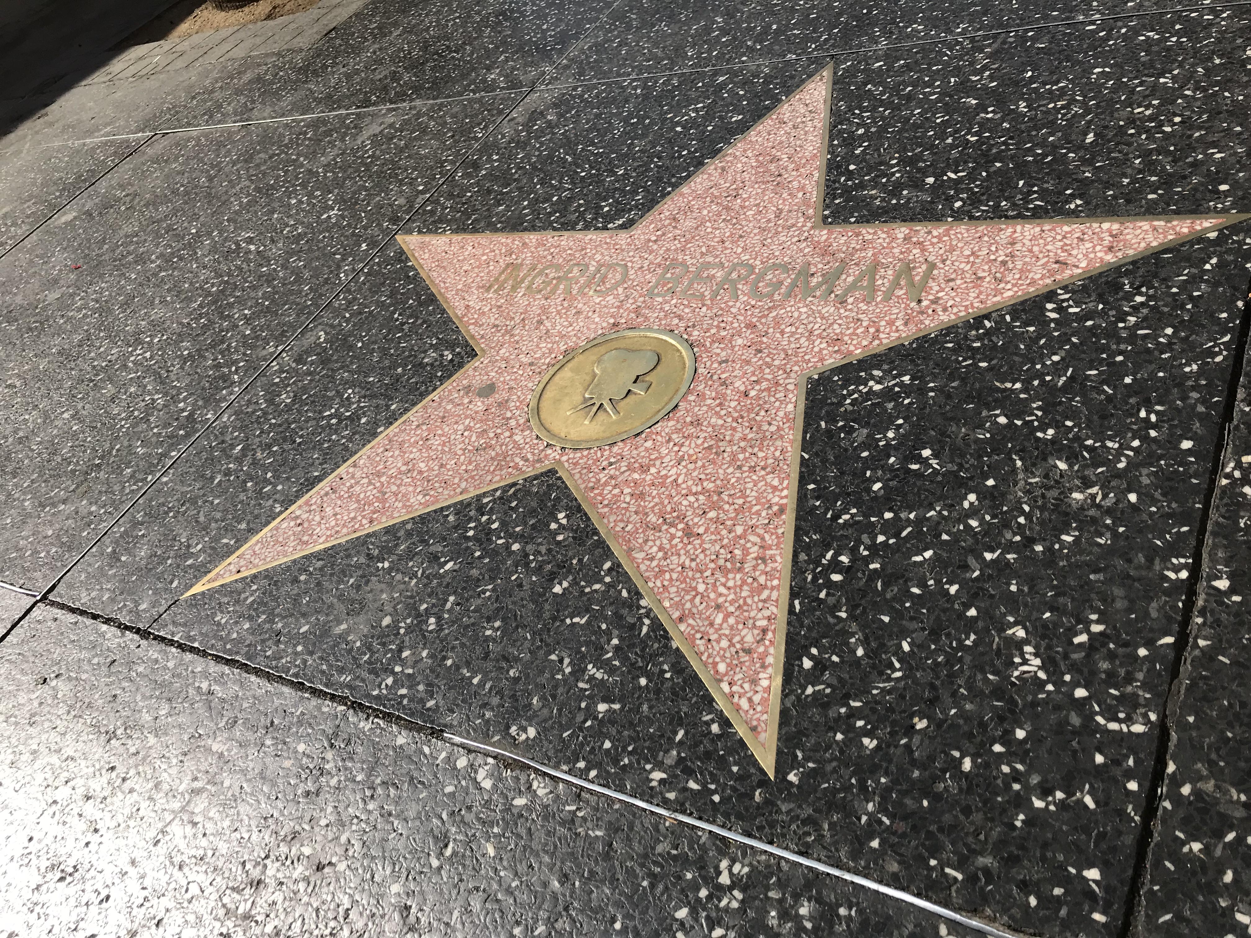 Hollywood stjärna Ingrid Bergman