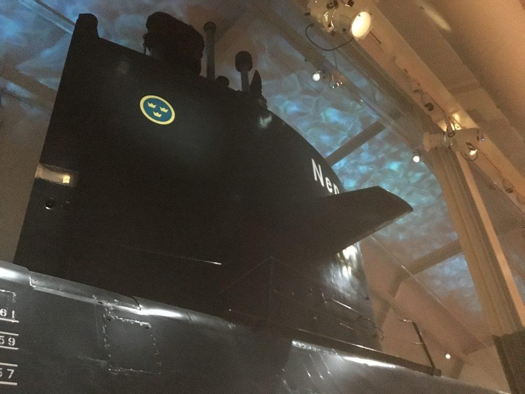 Karlskrona Marinmuseum, u-båt. Neptun