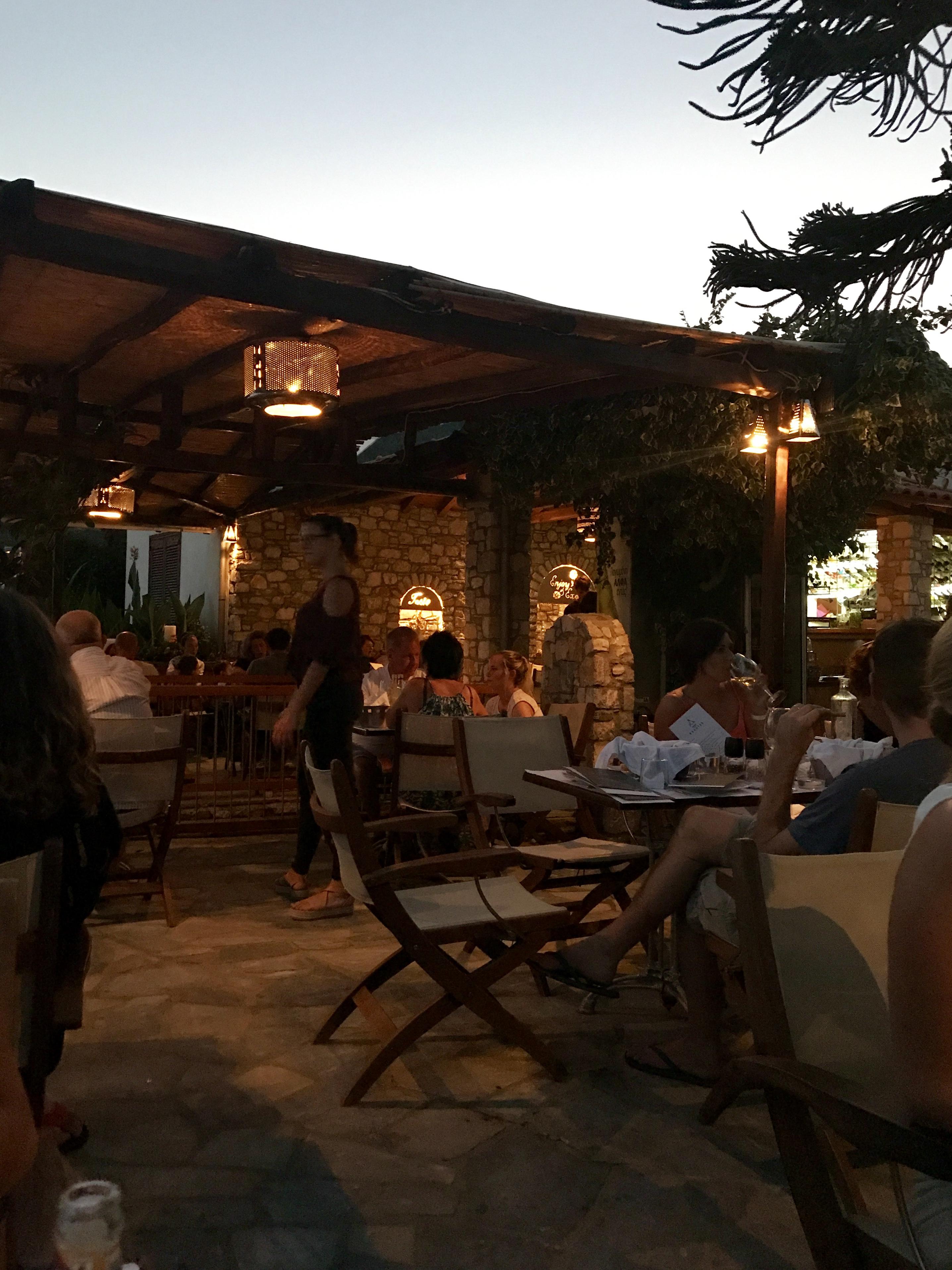 Restaurang Exantas, Megali Amos, Skiathos
