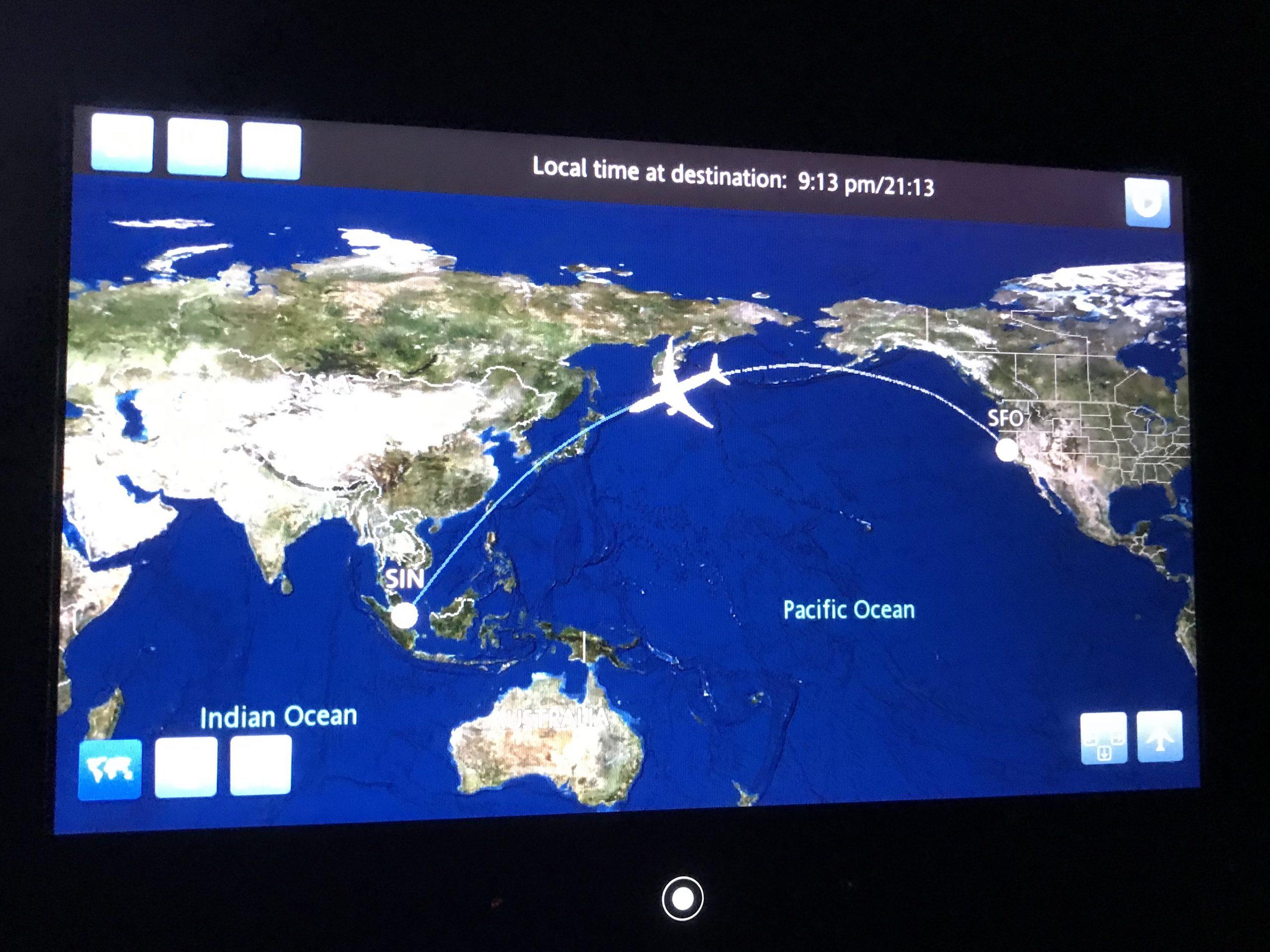 UA1 San Francisco till Singapore
