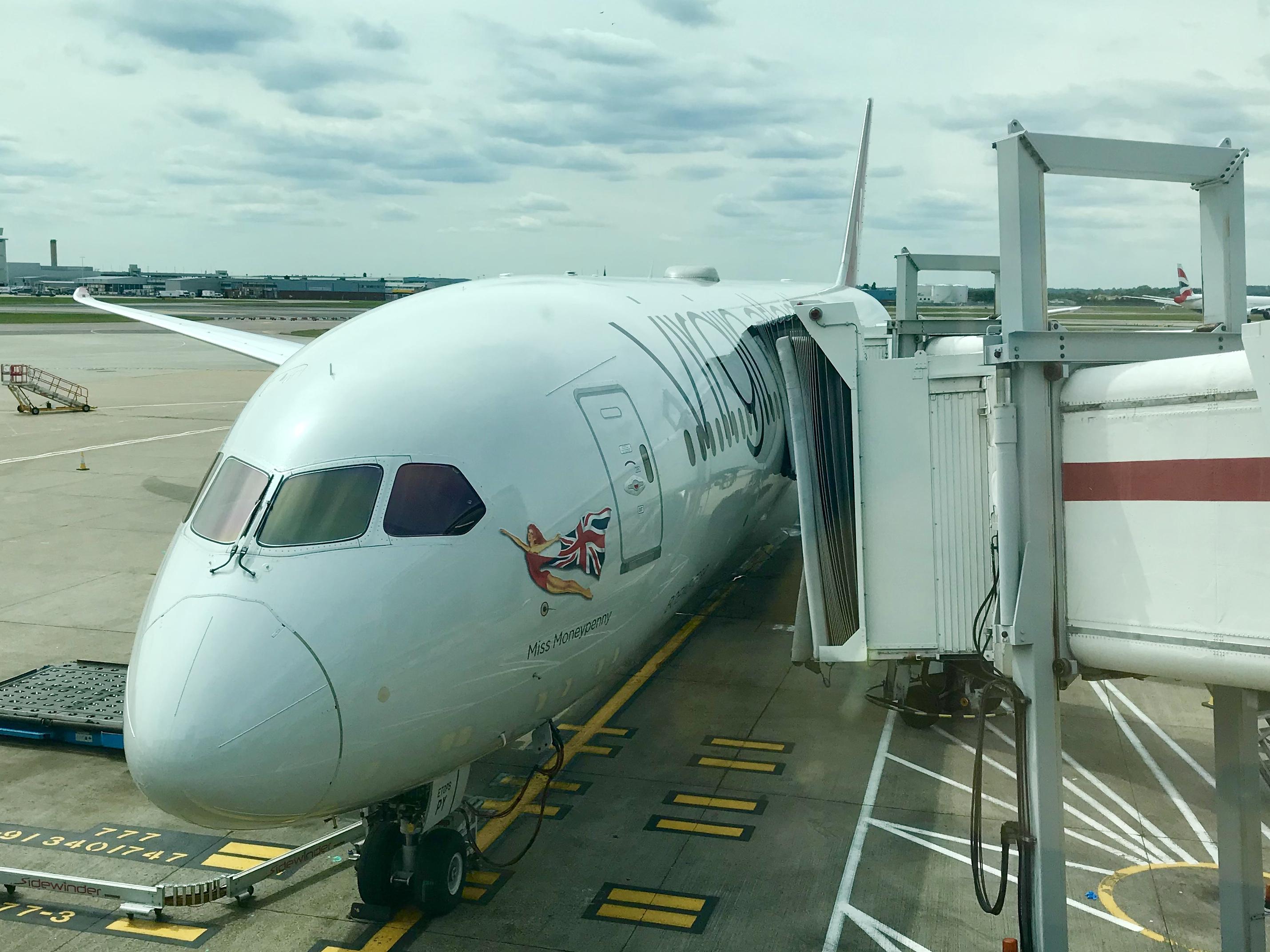 Virgin Atlantic Dreamliner 787 Miss Moneypenny