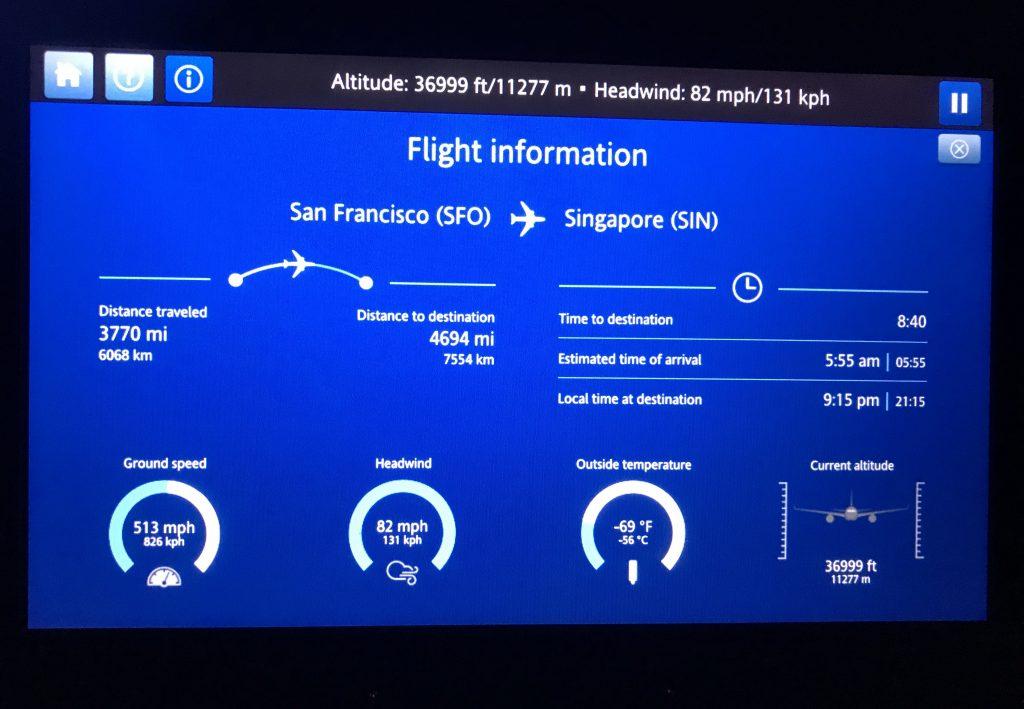 Flightinformation UA1