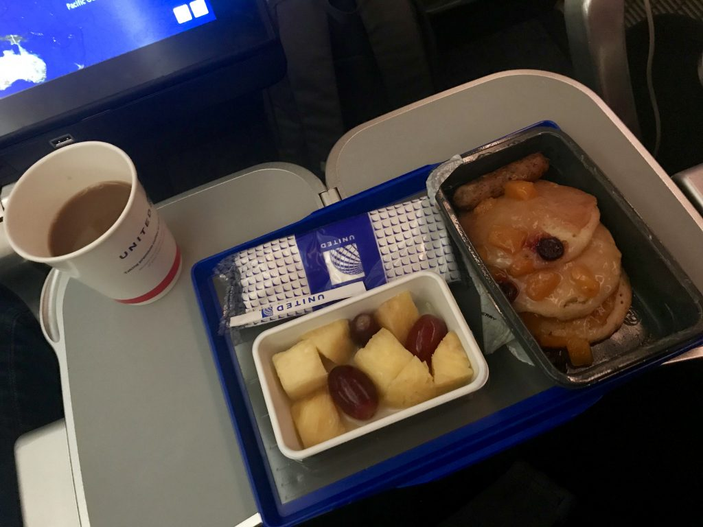United airlines UA1 frukost