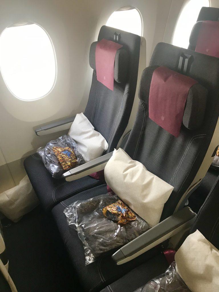 Qatar airways A350 säten