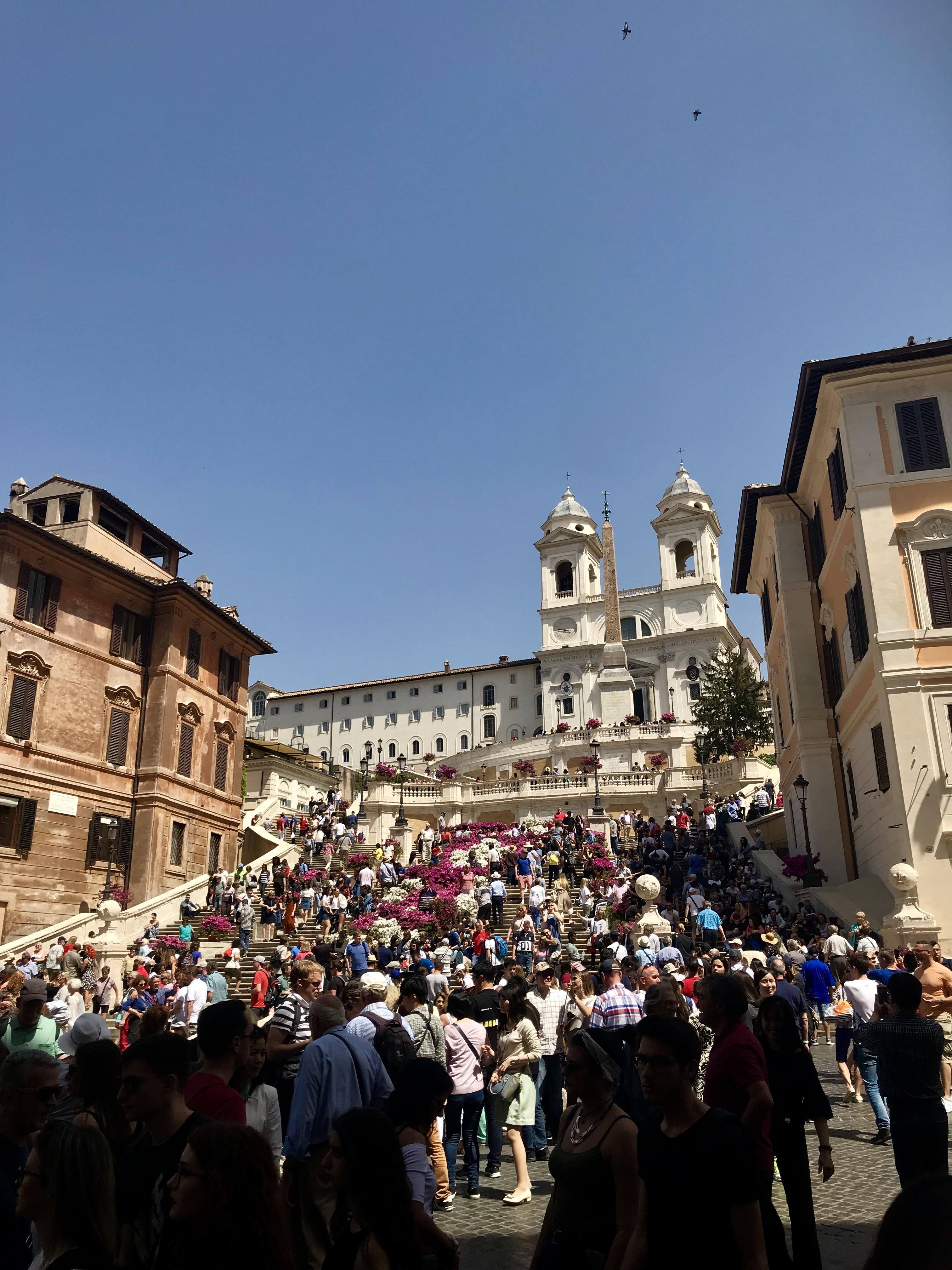 Spanska trappan, Rom