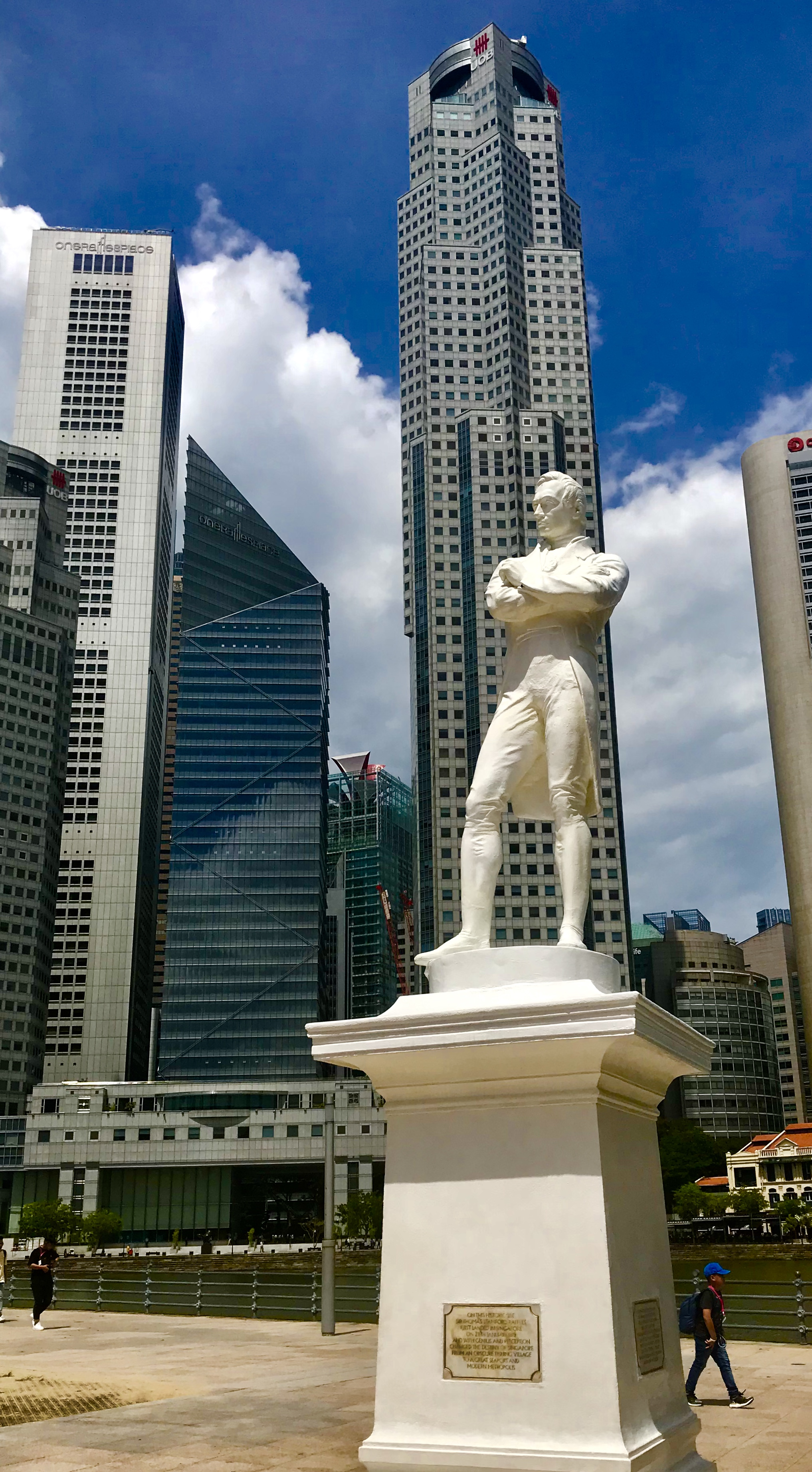 Raffles staty Singapore