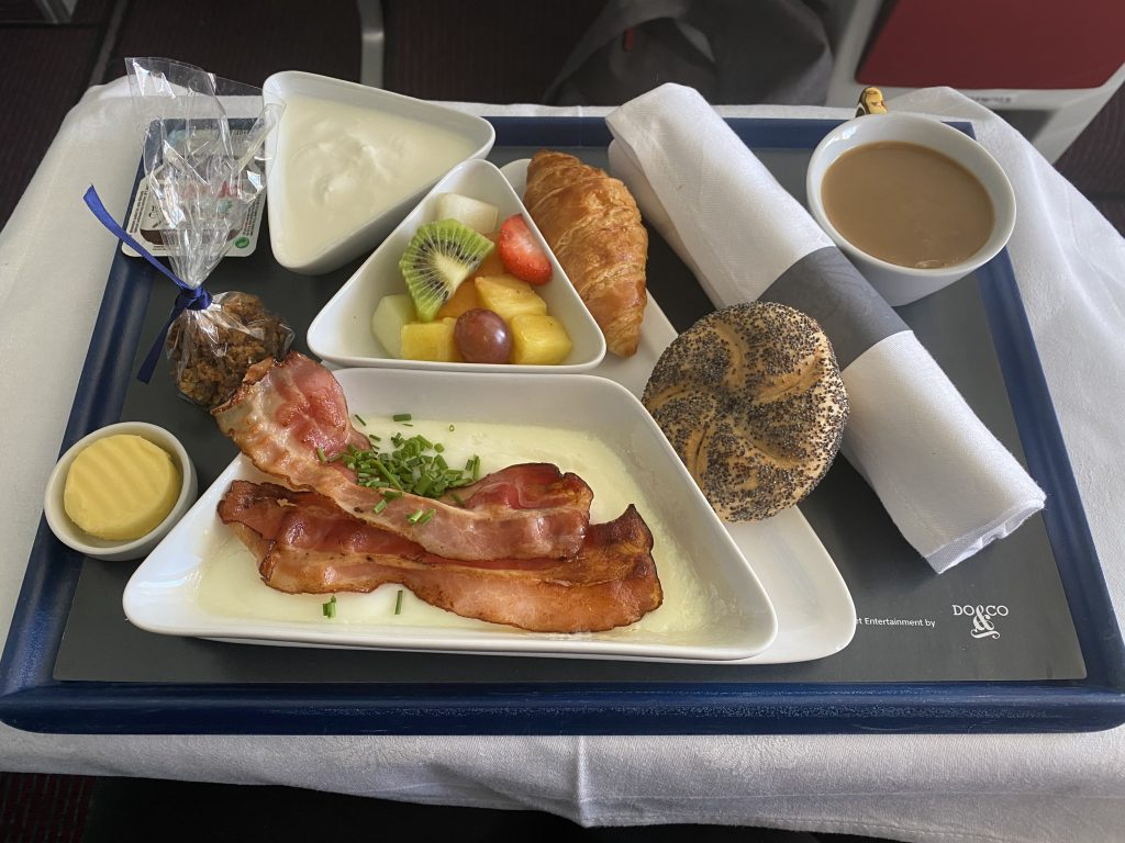 Austrian Business class Frukost