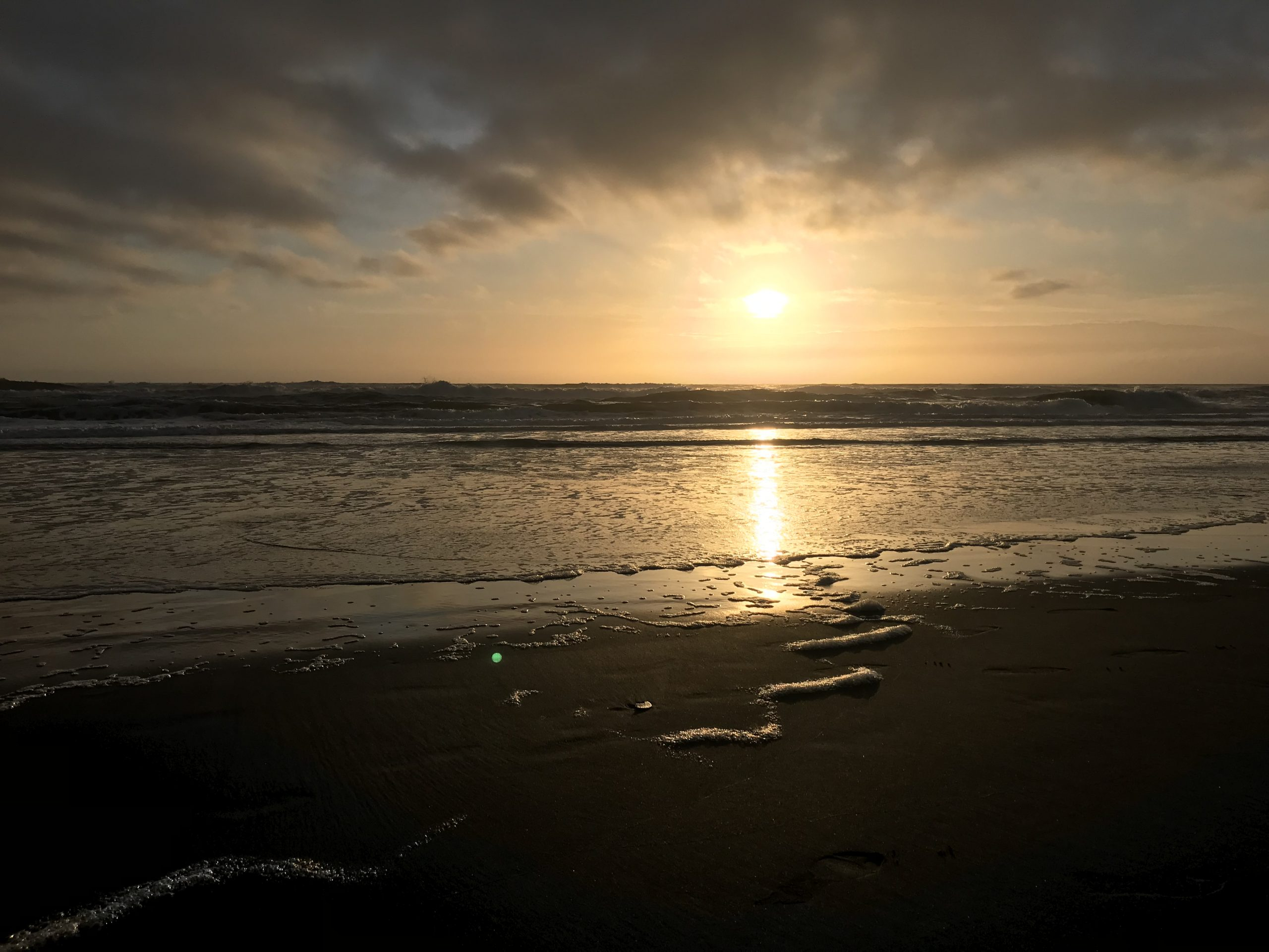 Havet och solnedgången