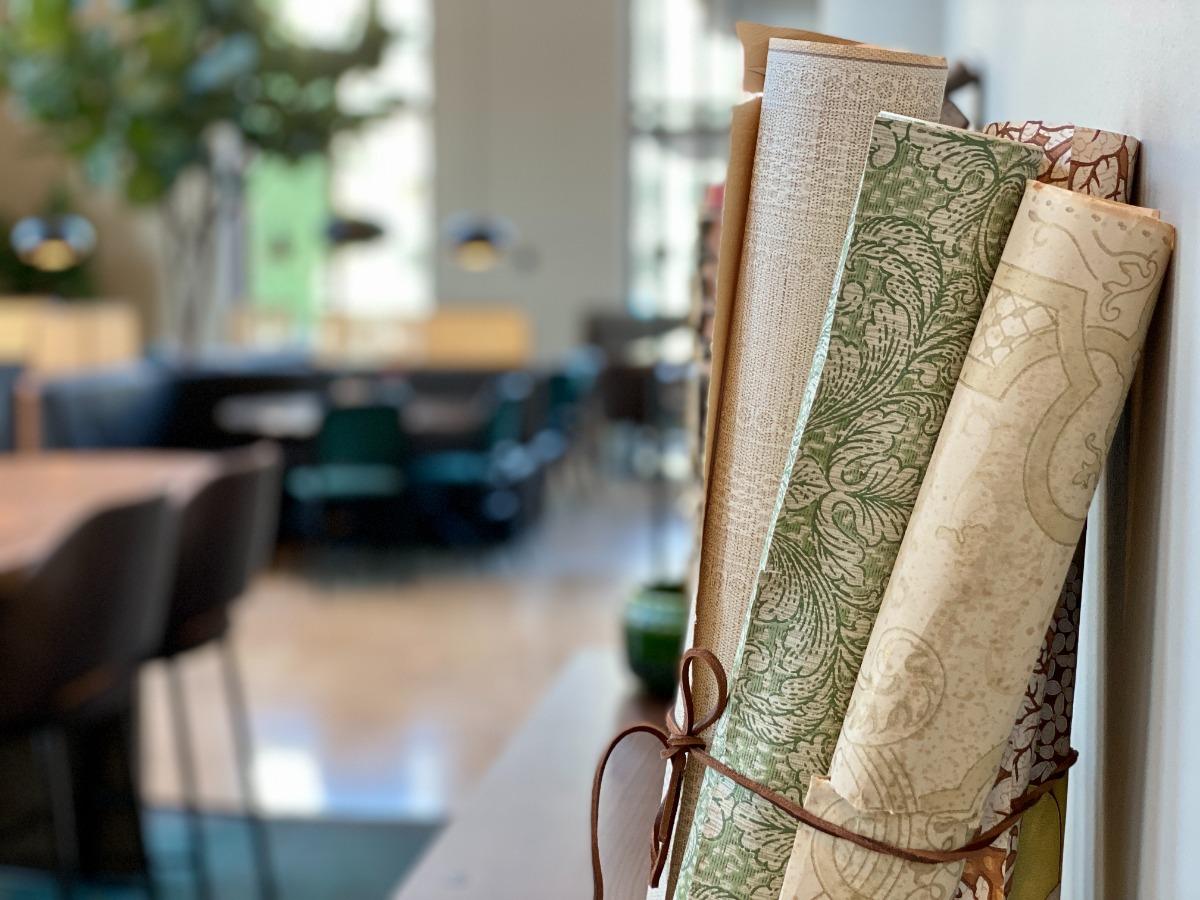 Lobbyn i Clarion Collection Hotel Tapetfabriken i Sickla